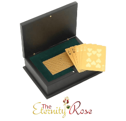 Gold-dipped poker cards